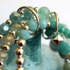 charm bracelet with beads images Aqua blue multi strand bracelet with beads and charms jpg