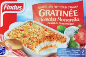 plat cuisiné plat cuisiné gratinée tomates mozzarella findus