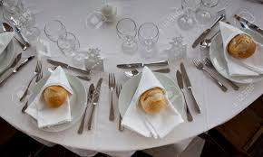 table set up in a luxury restaurant stock photo picture and
