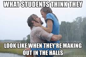 Making Out Meme - what students think they look like when they re making out in the