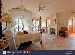 Spanish Bedroom Furniture by Mosquito Net Above Bed In Modern Spanish Bedroom With Traditional
