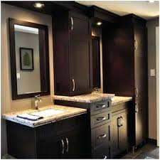 double sink vanity with middle tower double vanity with tower endearing master bath vanity traditional