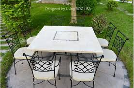 outstanding stone top outdoor dining table extraordinary 17 in