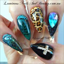 stiletto leopard print nail designs 2015 best nails design ideas