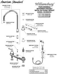 standard kitchen faucet plumbingwarehouse american standard bathroom faucet parts
