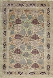 Neutral Persian Rug Beautiful Geometric Vintage Tabriz Persian Rug 51113 By Nazmiyal