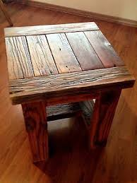 reclaimed wood end table fancy small square coffee table small square coffee table or end