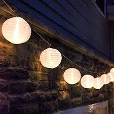 10 mini light string amazon com 10 ft white outdoor string light 10 mini lanterns 1