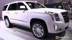 2017 cadillac escalade platinum exterior and interior walkaround