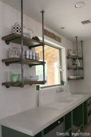 kitchen shelving industrial pipe kitchen shelving domestic imperfection