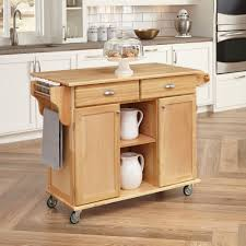 Kitchen Cabinet On Wheels Kitchen Island Natural Finishes Wood Portable Kitchen Island