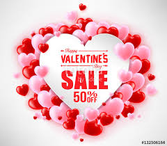 valentines sale happy valentines day sale with hearts for promotional purposes