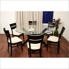 Glass Dining Table For 6 Easy End Tables Table Lunch Buffet On