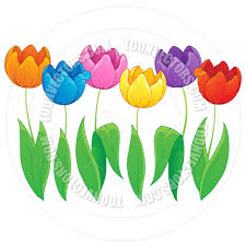 Images Of Tulip Flowers - cartoon image with tulip flower theme by clairev toon vectors