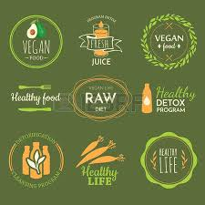 raw food diet healthy lifestyle and proper nutrition vector
