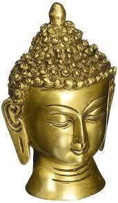 amazon com head buddha statue sculpture metal brass hinduism