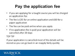 applying for postgraduate study at warwick jenny garner admissions