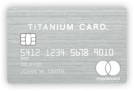 luxury card made of stainless steel