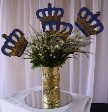 crown centerpieces royal blue and gold centerpieces dress images