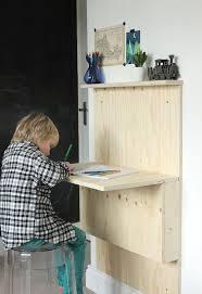 Diy Kid Desk Diy Fold Away Desk Plywood Desk Desks And Plywood