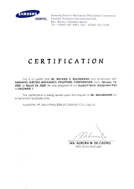 Sle Certification Letter Philippines Certification Letter For Bank 28 Images Cover Letter For A
