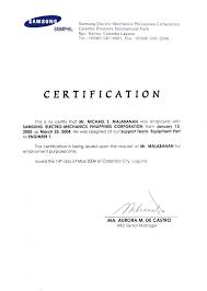 Sle Of Barangay Certification Letter Certification Letter For Bank 28 Images Cover Letter For A