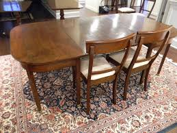 mahogany 2 part dining table with single leaf english 19th