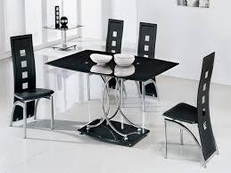 Black Glass Tables Dining Table Black Glass Delectable Decor Inspiring Giovani Black
