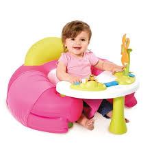 jouets d eveil pour bebes smoby siege confortable avec table d