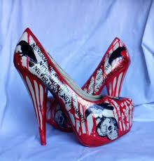 Skull High Heels Nevermore Raven And Skull Killer Heels Uk 7 By Missfiendishapparel