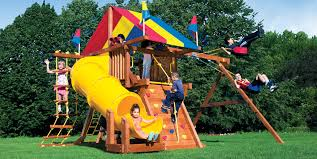 small yard play structures swing sets playground equipment