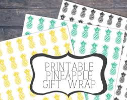pineapple wrapping paper pineapple gift wrap etsy
