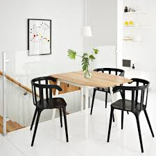 Black Armchair Design Ideas Ikea Drop Leaf Table Bamboo White Seats With Large Dining Room