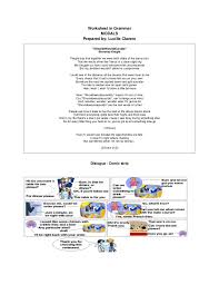 worksheet in modals