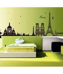 stickerskart black city skyline paris eiffel tower silhouette