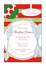 christmas dinner invitation card design idea with dining set