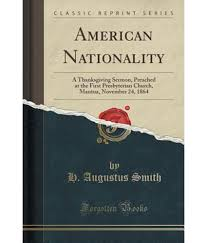 american nationality a thanksgiving sermon preached at the