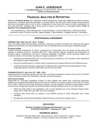 good resume great resume examples 2016 financial analysis and