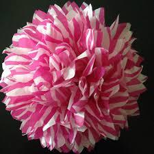 zebra tissue paper hot pink zebra print 1 tissue paper pom by 1pompomgirl
