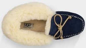 sale on womens ugg slippers uggs bailey button triplet ugg alena 1004806 slippers navy