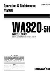 komatsu wa320 5 m 50051up 0311 loader equipment switch