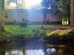small lake house creek behind house and small lake albrightsville poconos