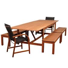 Wood Patio Dining Table home decorators collection bermuda 7 piece all weather eucalyptus