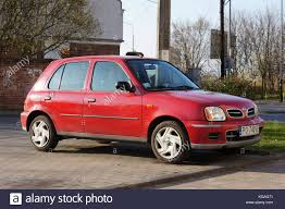red nissan car nissan micra stock photos u0026 nissan micra stock images alamy