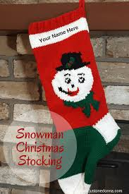 vintage style hand knit christmas stockings for christmas