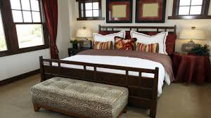 Decorated Model Homes Cherry Color Combination Bedroom Set Professionally Decorated