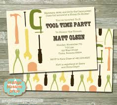 stag do invite groom u0027s tool shower invitation honey do shower tool time