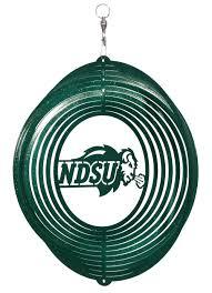 ndsu bison swirly metal wind spinner one herd ndsu bison gear