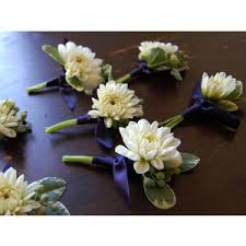 gold boutonniere wedding flowers white blue gold boutonniere studio cho