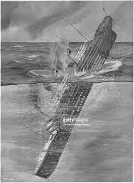 the sinking of the titanic 1912 illustration titanic sinking pictures getty images